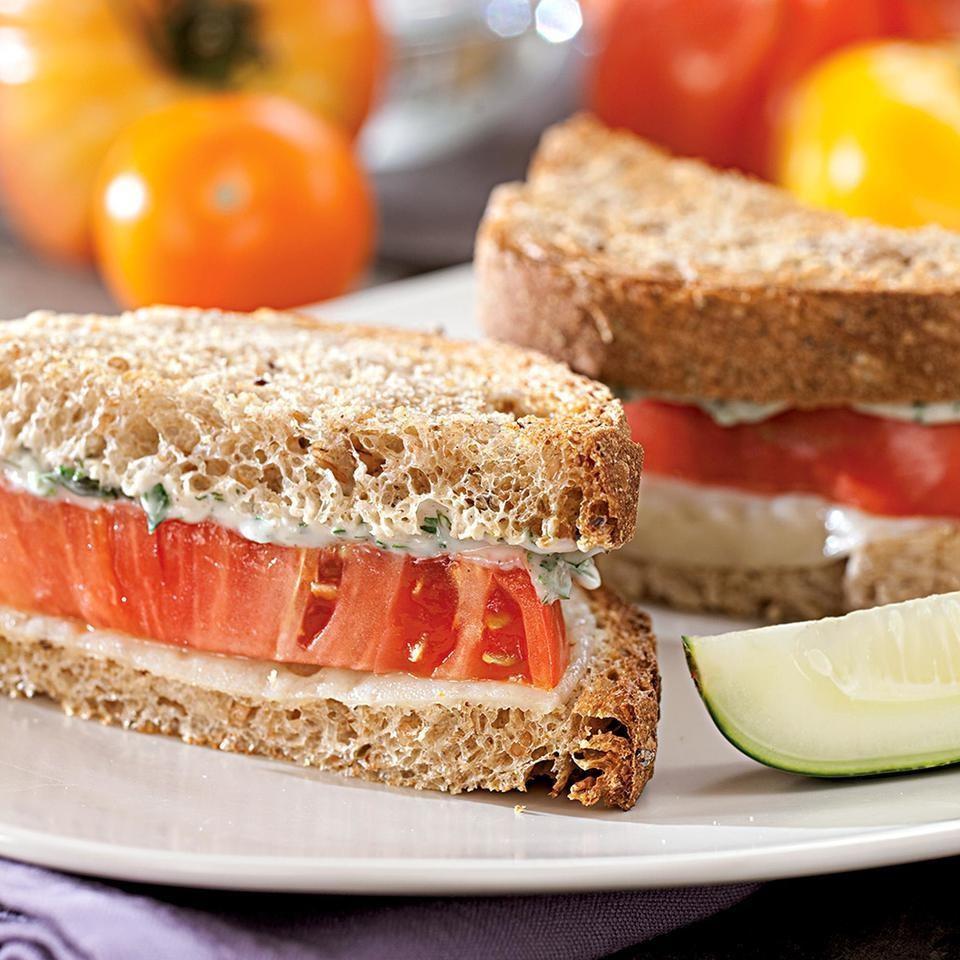 tomato provolone sandwiches recipe eatingwell