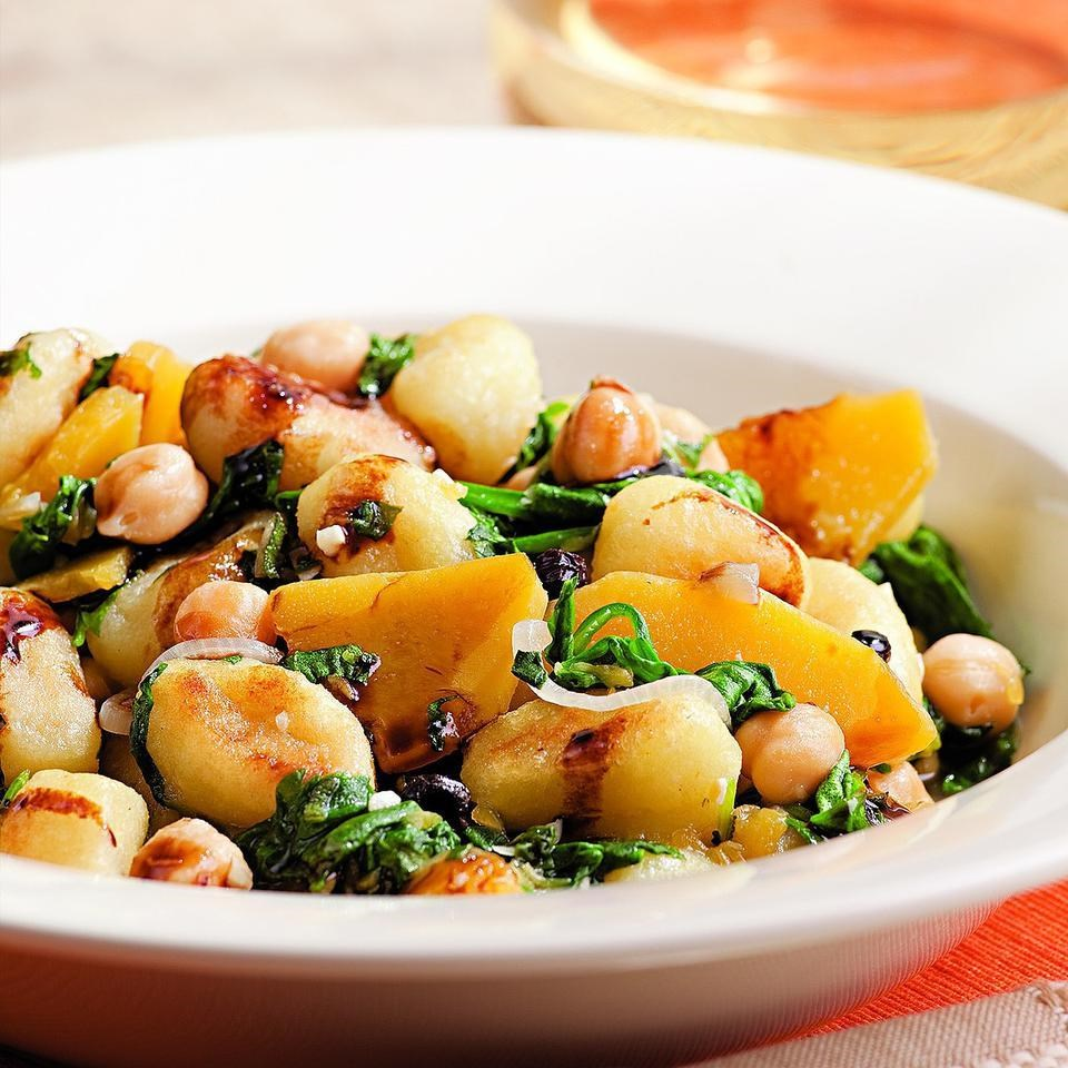 Chickpea, Spinach & Squash Gnocchi Recipe - EatingWell