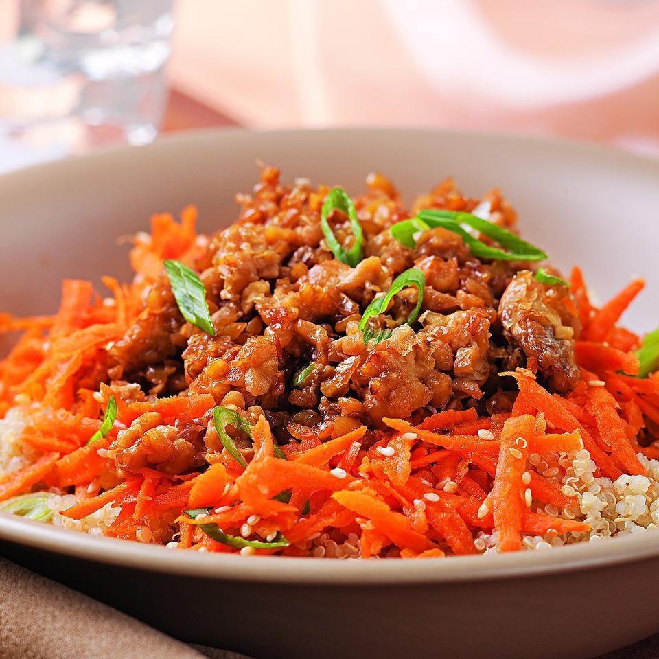 Sesame-Honey Tempeh & Quinoa Bowl