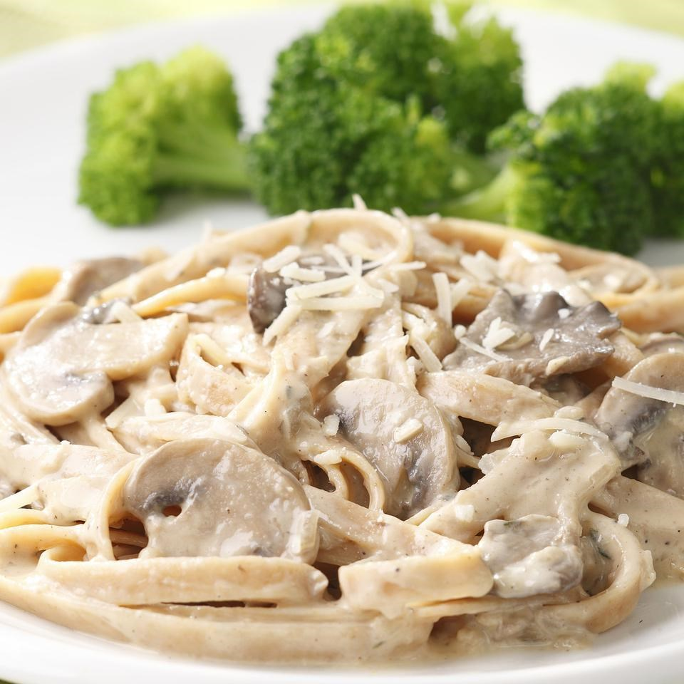 Fettuccine with Creamy Mushroom Sauce Recipe - EatingWell