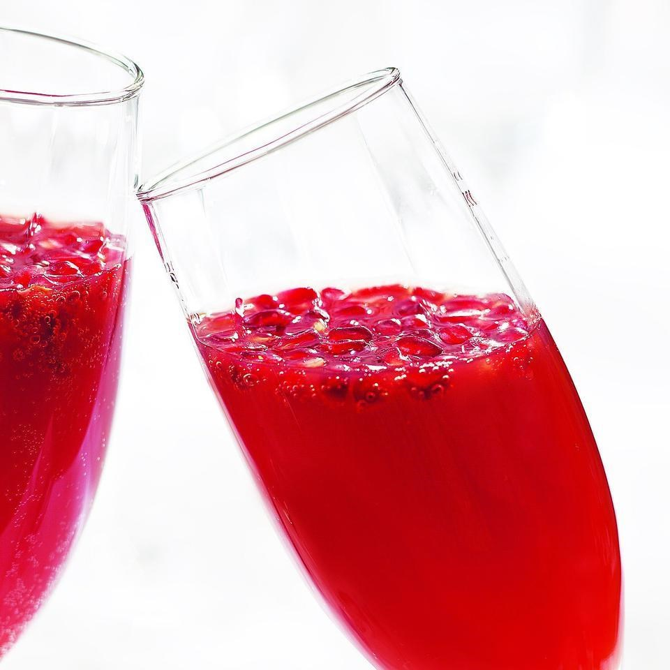 Blood Orange-Pomegranate Mimosas