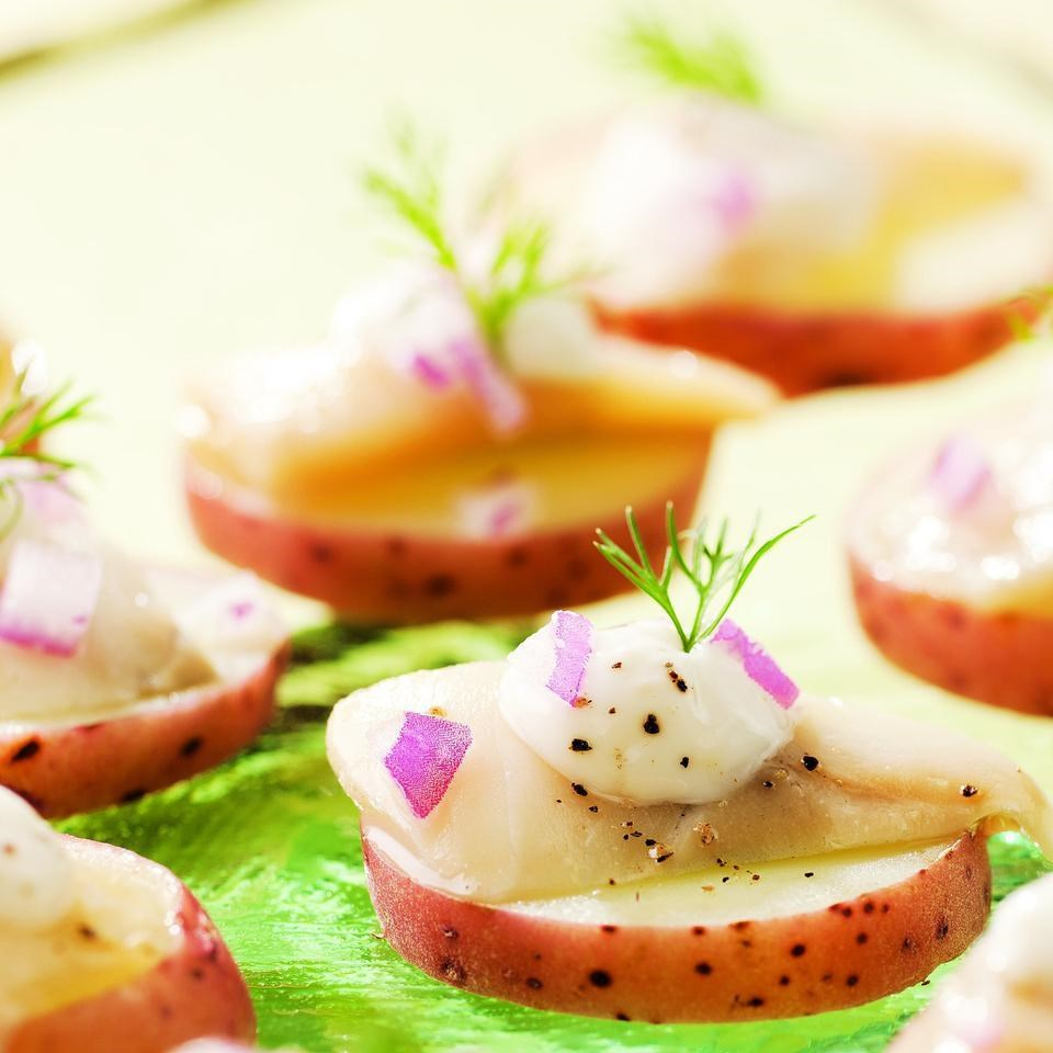 Scandinavian Pickled Herring Bites