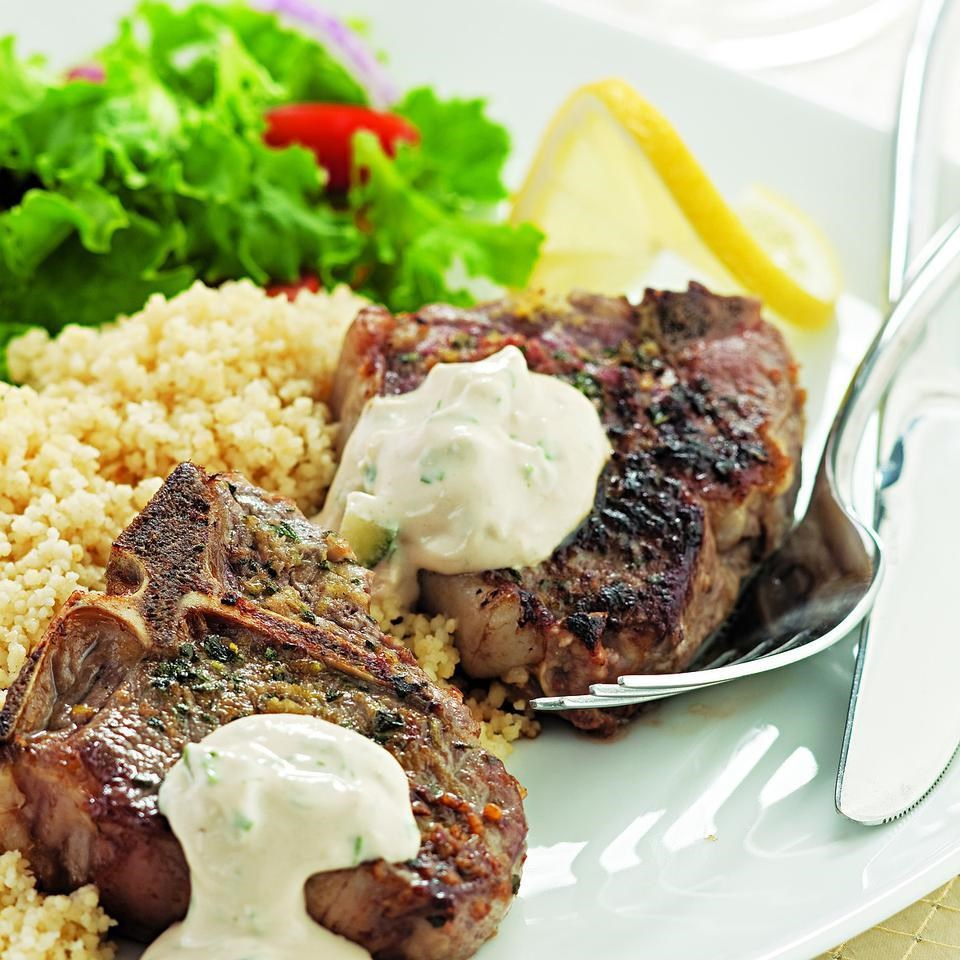Lemon oregano lamb chops recipe eatingwell lemon oregano lamb chops forumfinder Choice Image