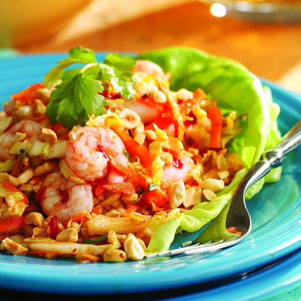 Chilled Maine Shrimp with Cabbage & Peanuts, Vietnamese-Style