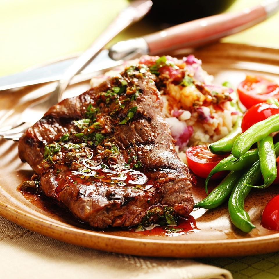 Steak & Potatoes with Anchovy-Caper Vinaigrette