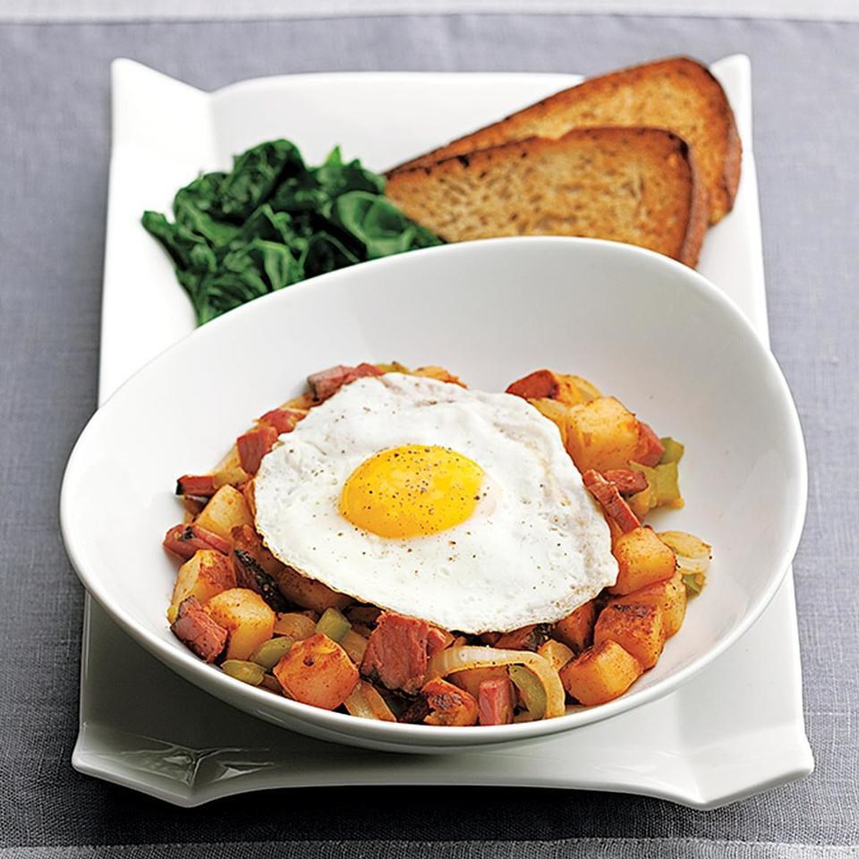 Quick Pastrami Hash & Eggs Recipe - EatingWell
