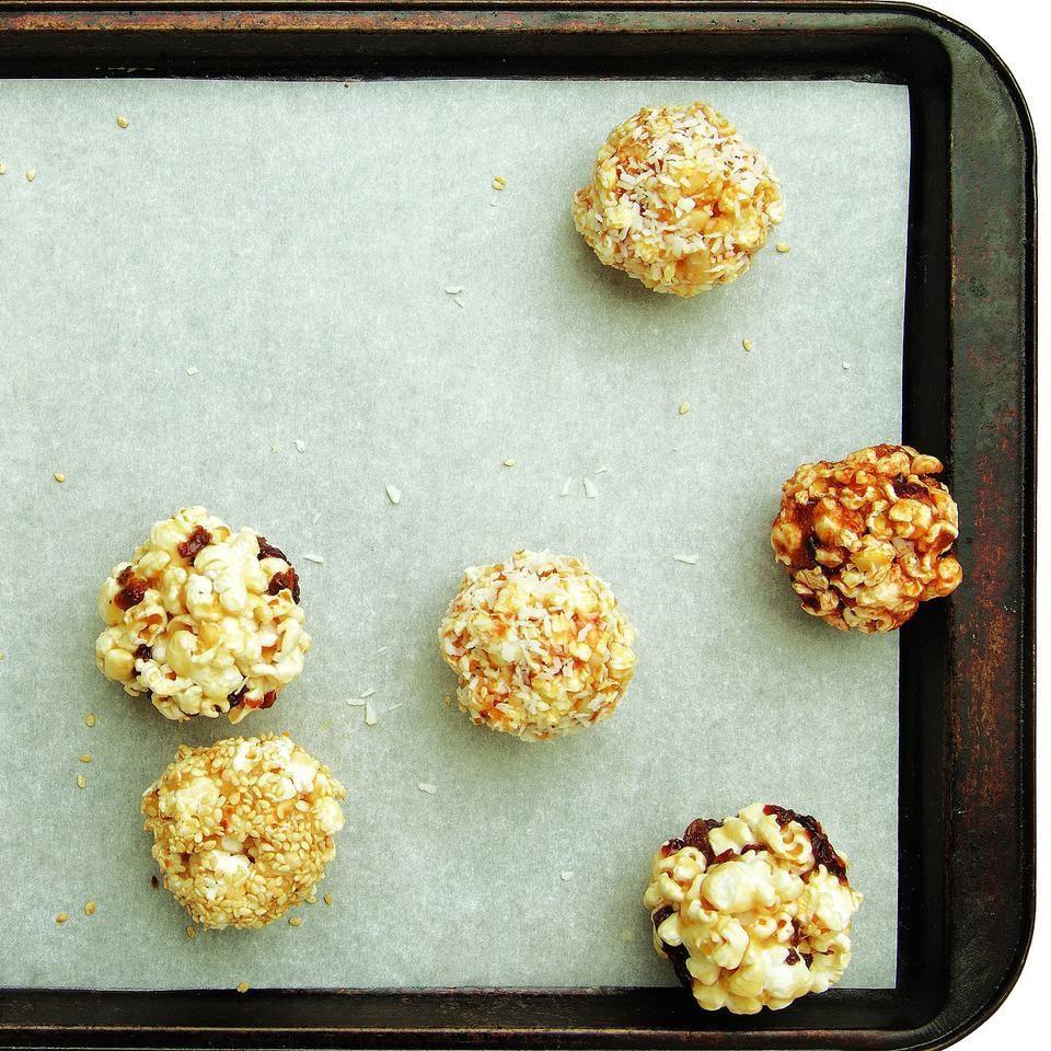 Chocolate Pretzel & Cherry Popcorn Balls