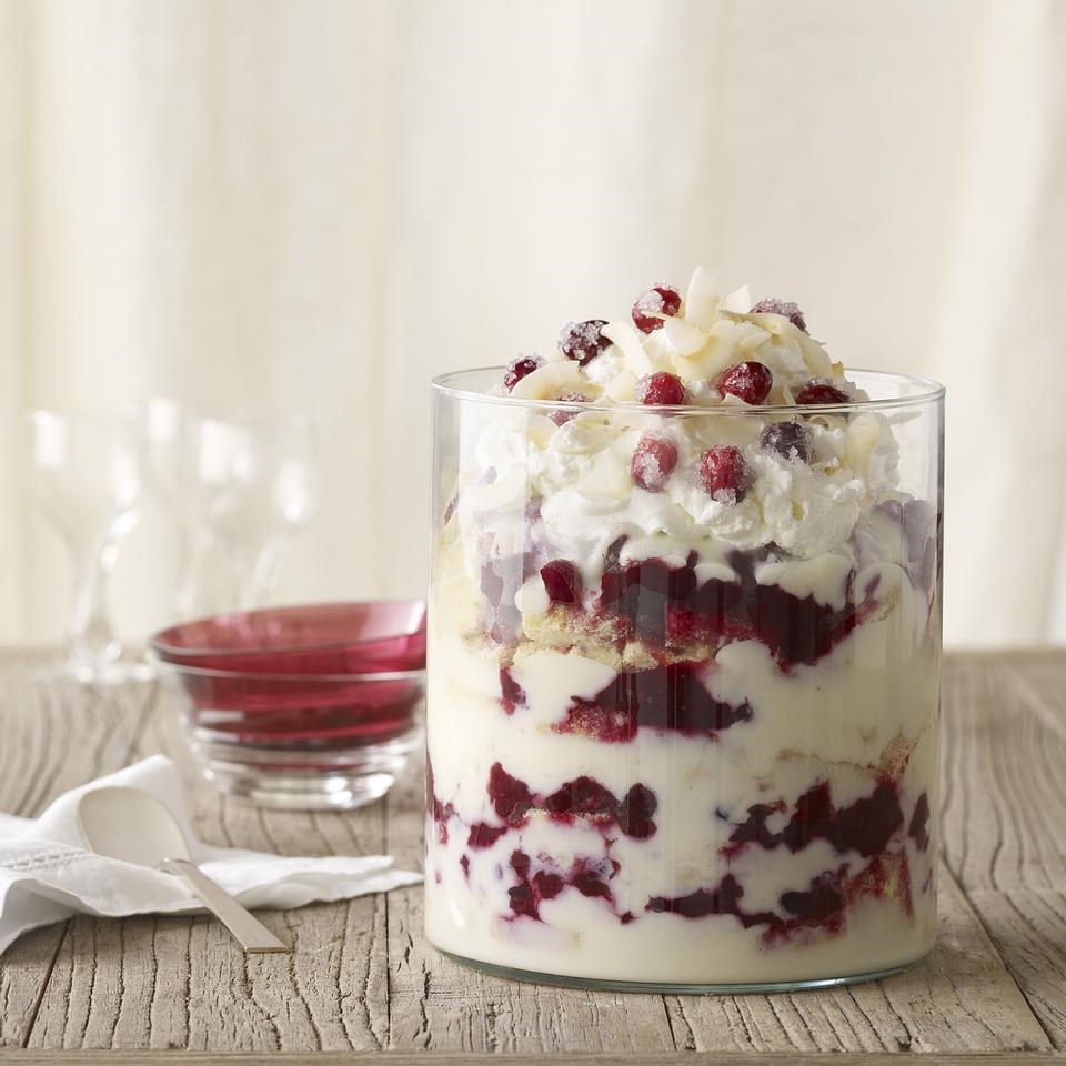cranberry coconut trifle
