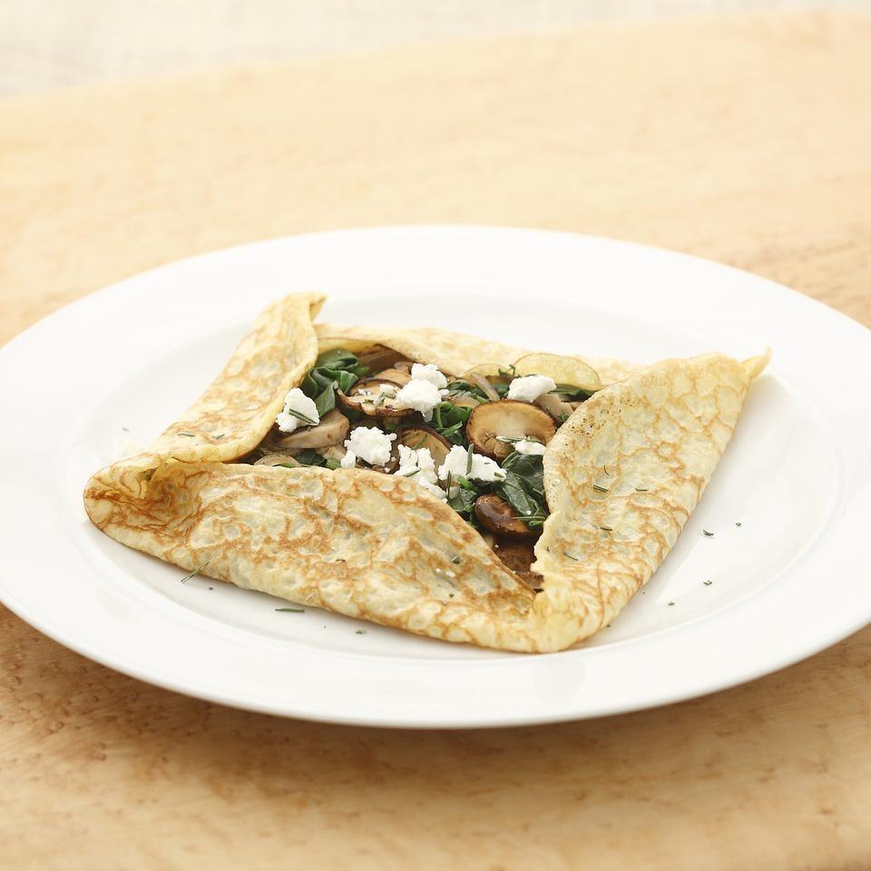 Mushroom & Spinach Crepes