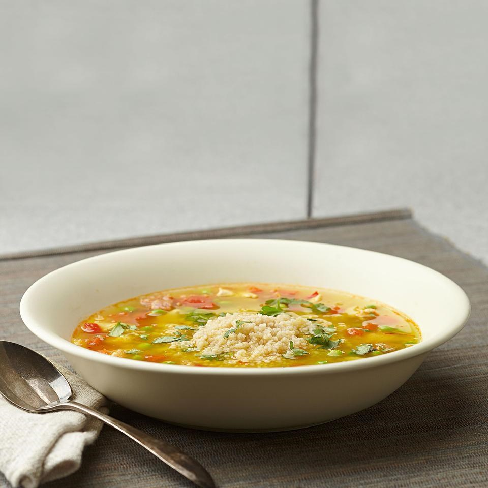 Couscous Paella Soup Recipe - EatingWell