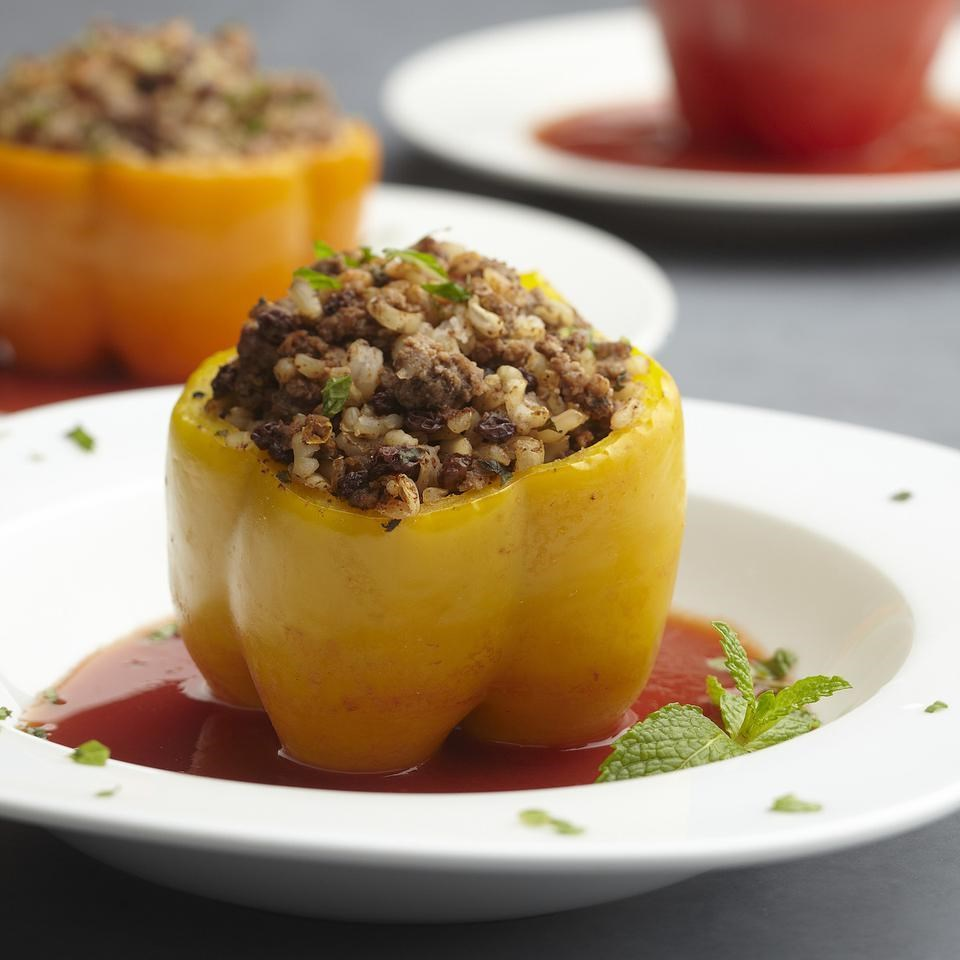 Moroccan-Style Stuffed Peppers for Two