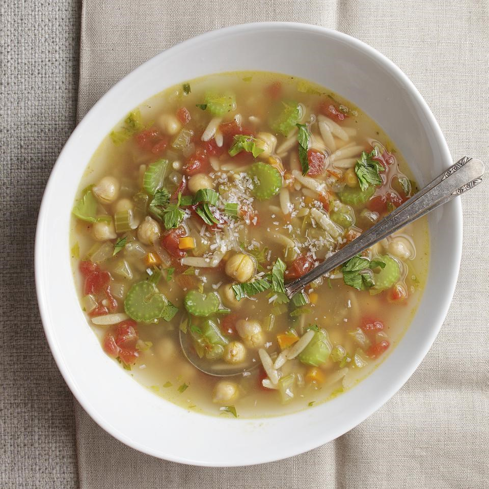 celery and parmesan minestrone