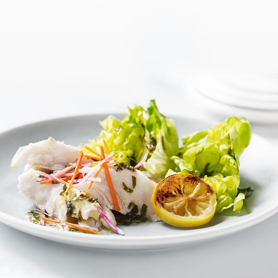 Grilled Halibut Salad with Beet-Carrot Slaw