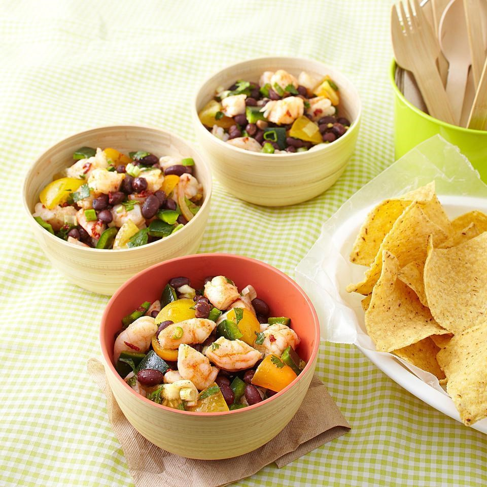 Zesty Shrimp & Black Bean Salad for Two