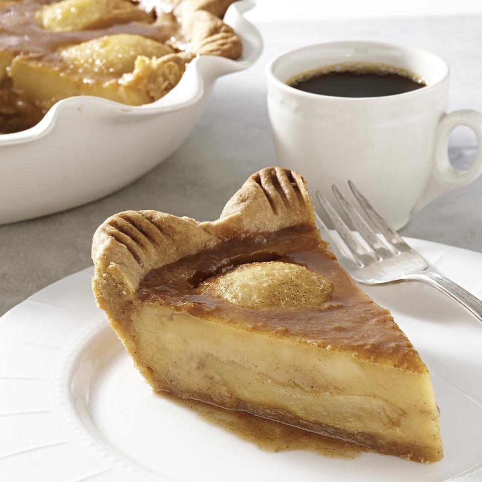 Caramelized Pear Custard Pie