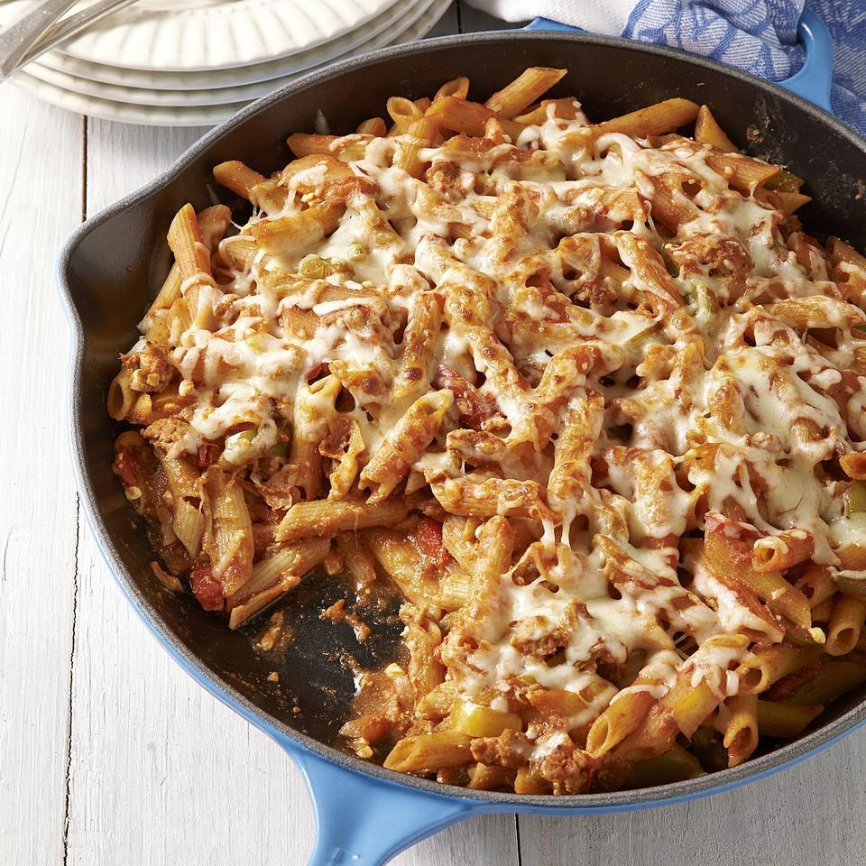 Sausage and Pepper Baked Ziti