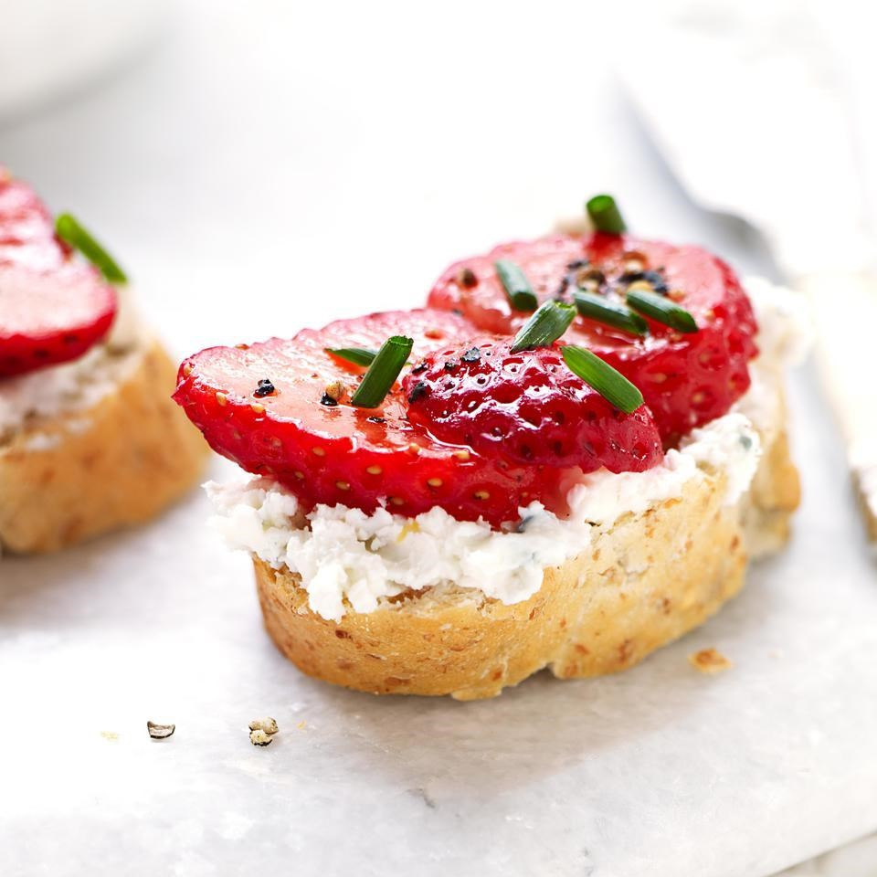 Strawberry & Blue Cheese Bruschetta