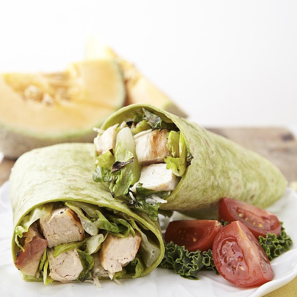 Grilled Chicken Caesar Salad Wrap Recipe - EatingWell