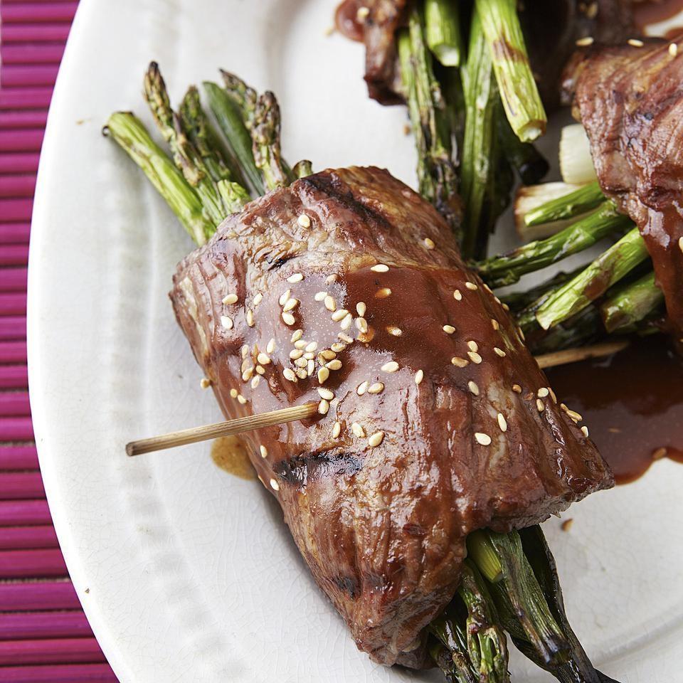 Beef & Asparagus Negimaki Rolls