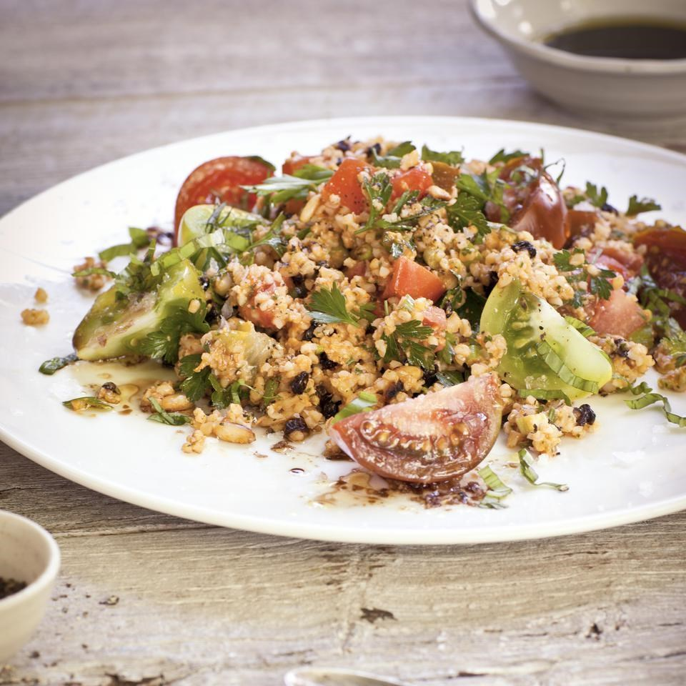 Bulgur Salad with Romesco Sauce