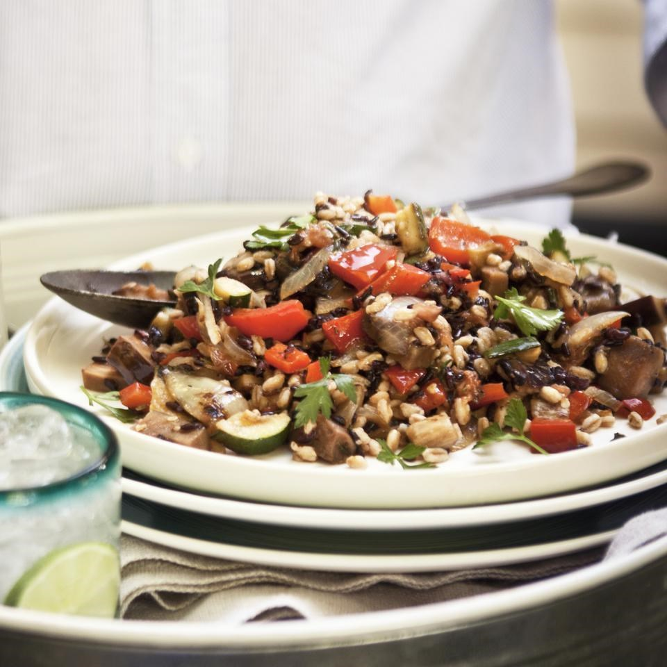 Ratatouille Black Rice & Farro Salad