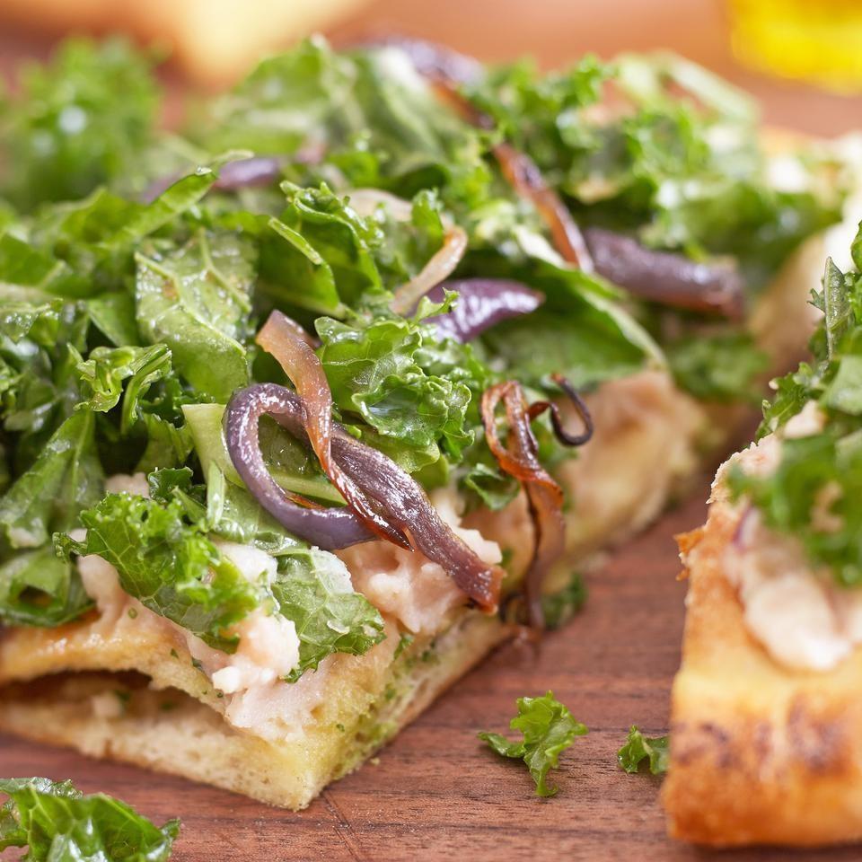 Raw Kale Salad with Roasted Garlic Dressing