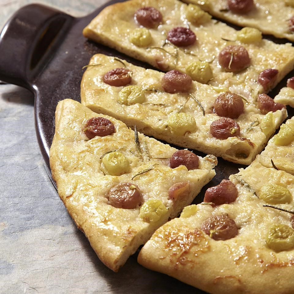 Grape-Rosemary Focaccia Recipe - EatingWell.com