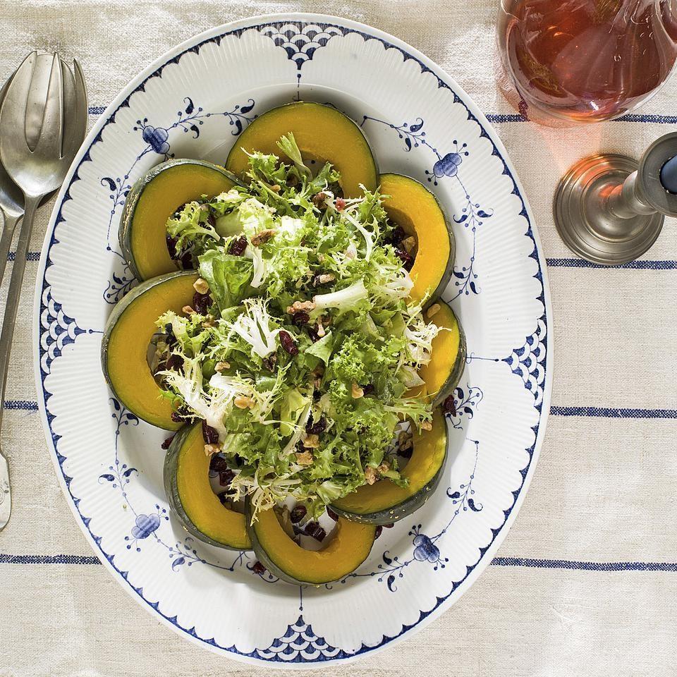 Winter Greens Salad with Squash & Cranberry Vinaigrette