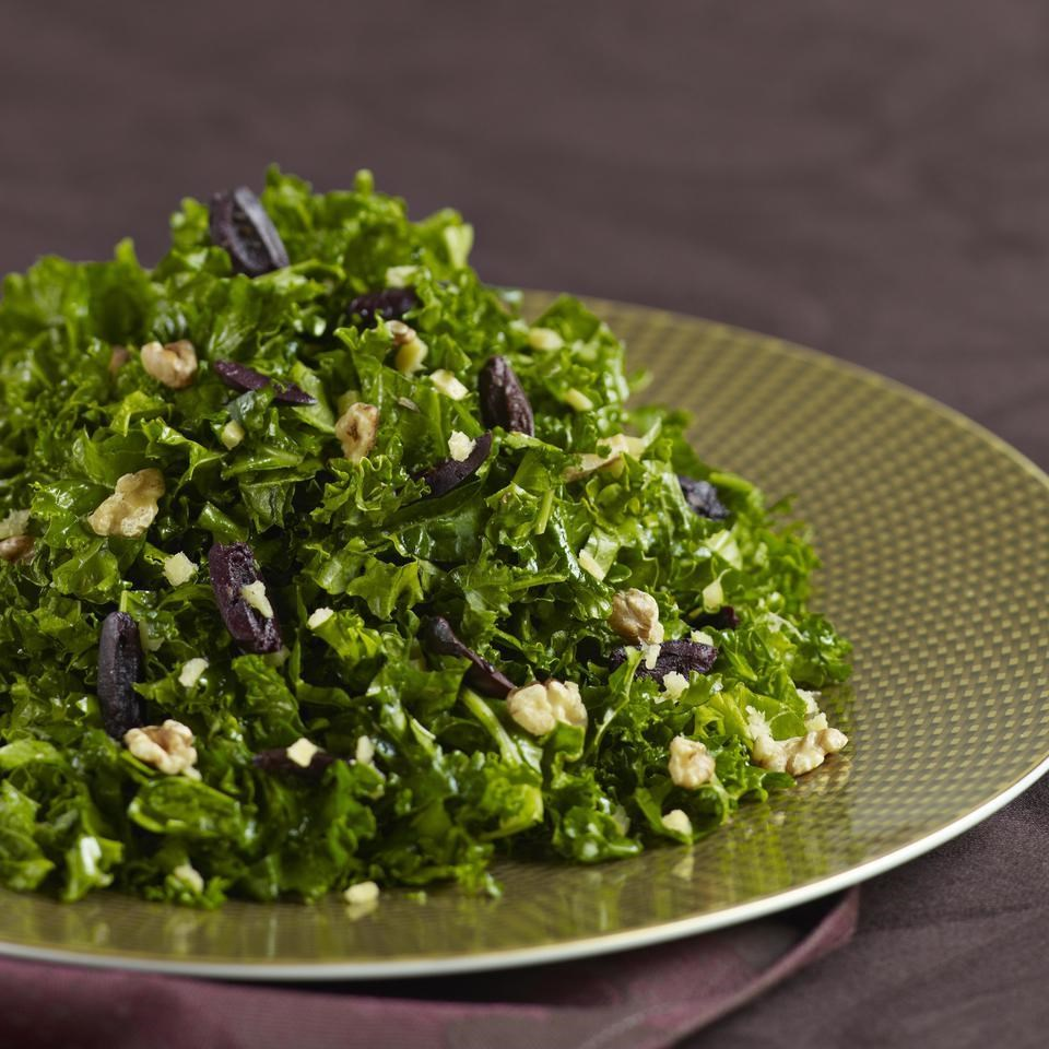 Kale Salad with Preserved Lemon & Walnuts
