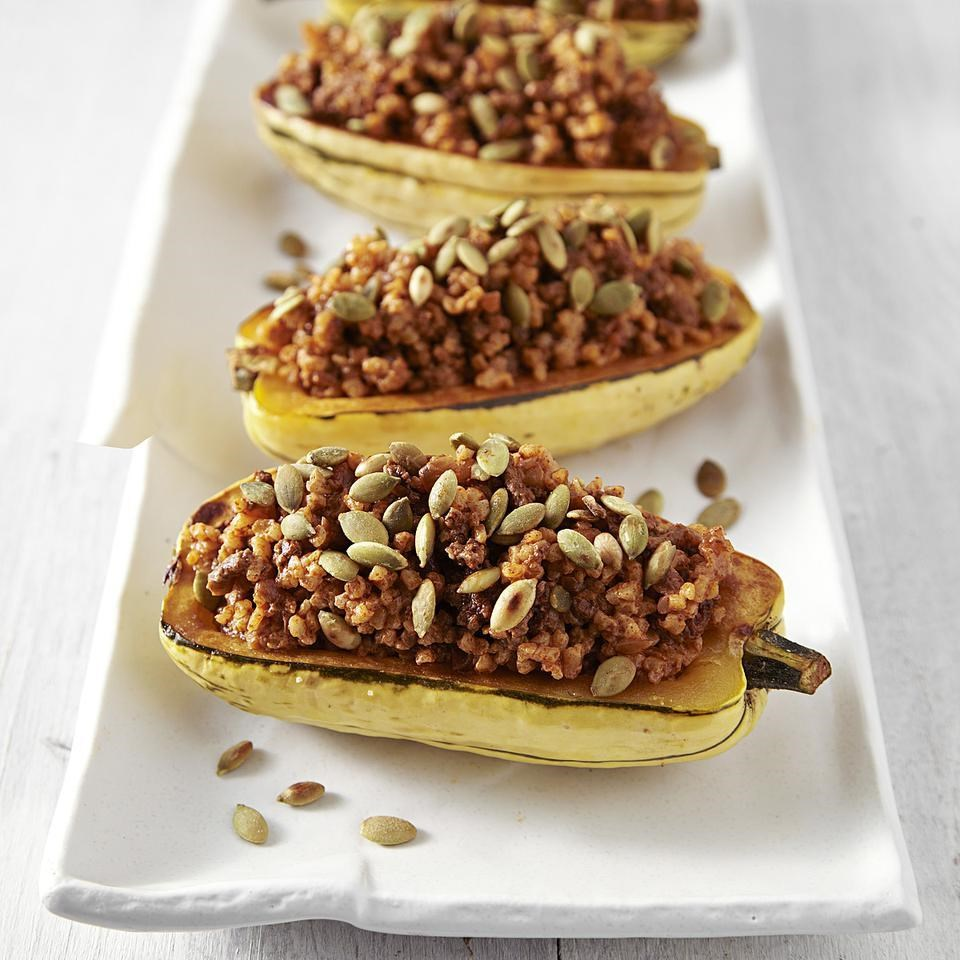 Stuffed Delicata Squash for Two