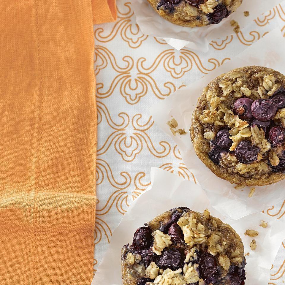 Breakfast Blueberry-Oatmeal Cakes Recipe - EatingWell.com