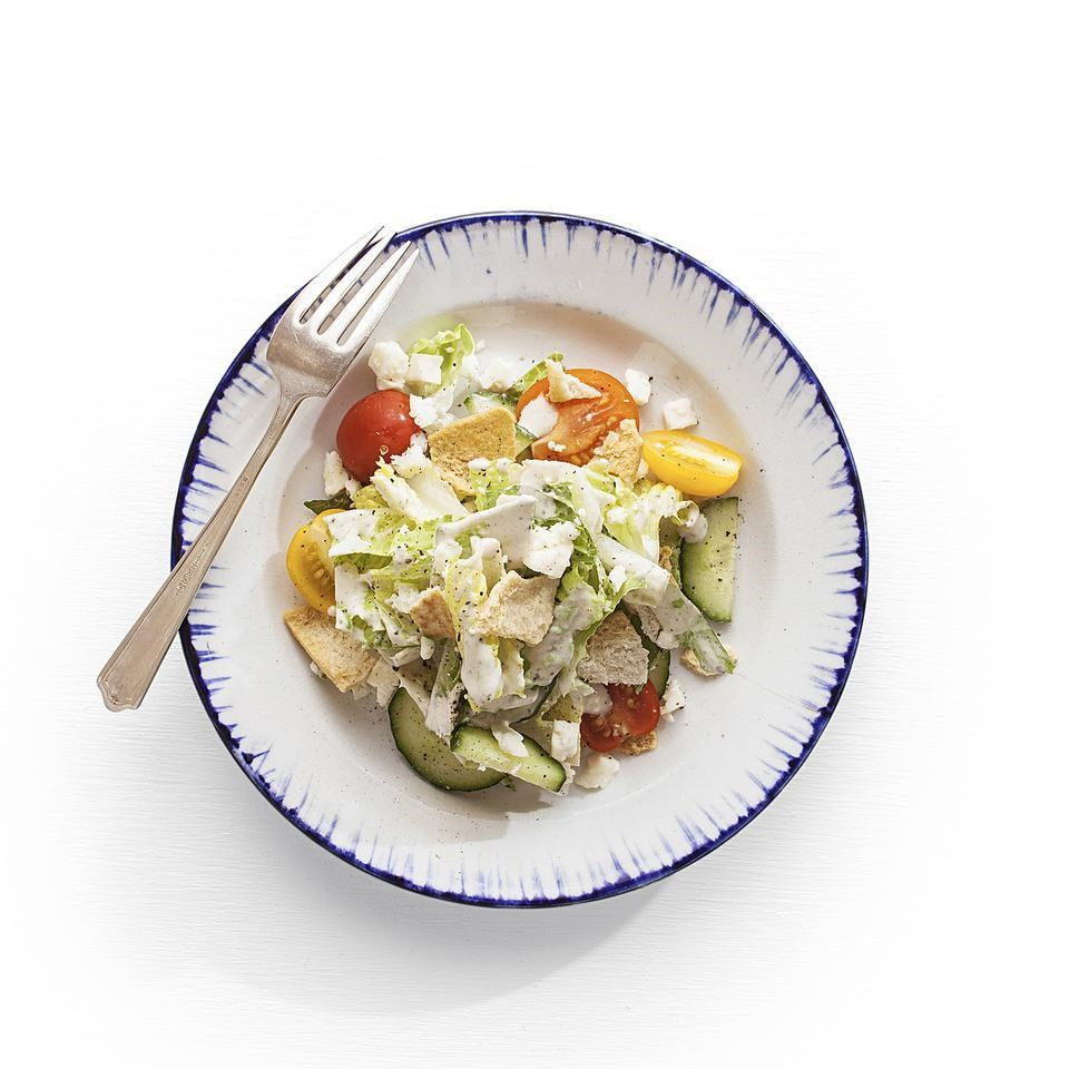 Fattoush with Yogurt-Tahini Dressing