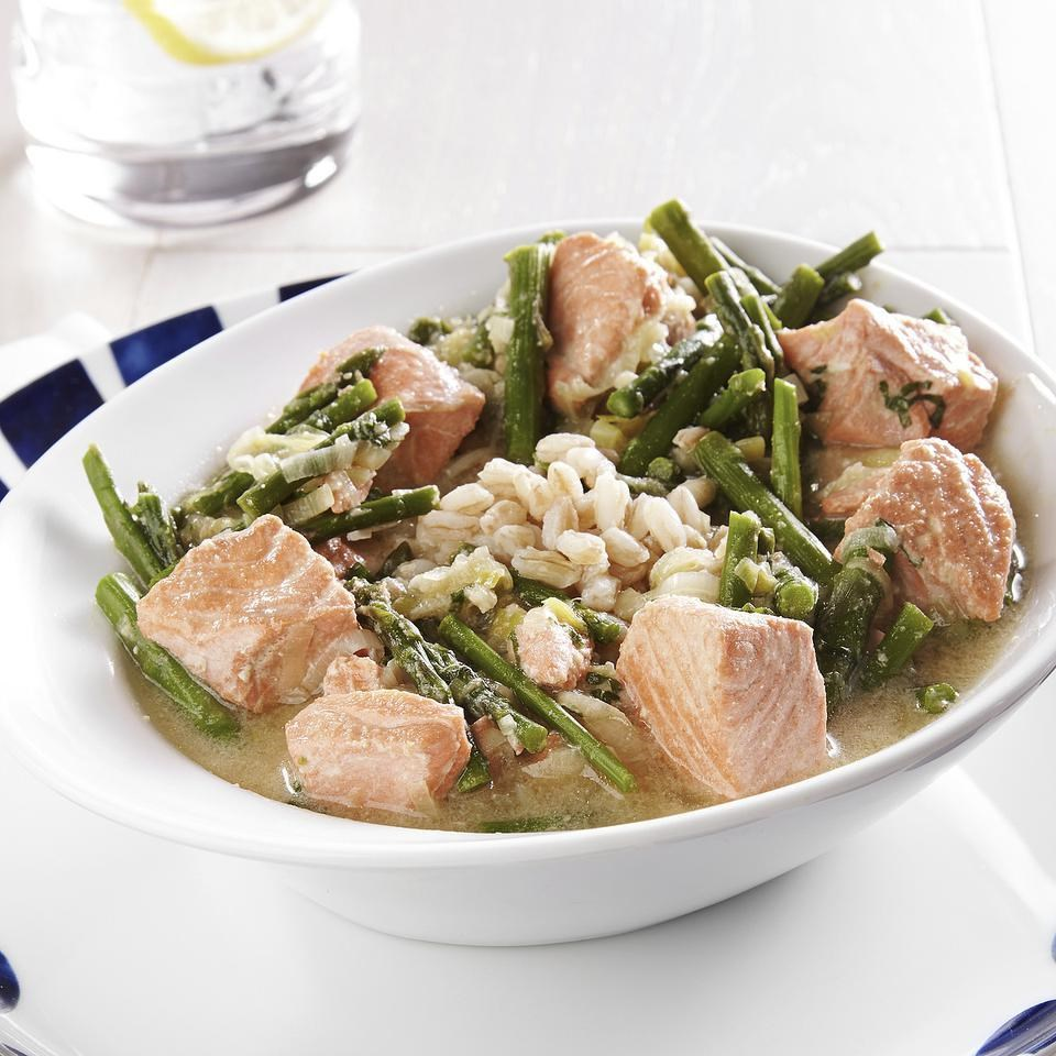 Salmon & Asparagus Farro Bowl Recipe