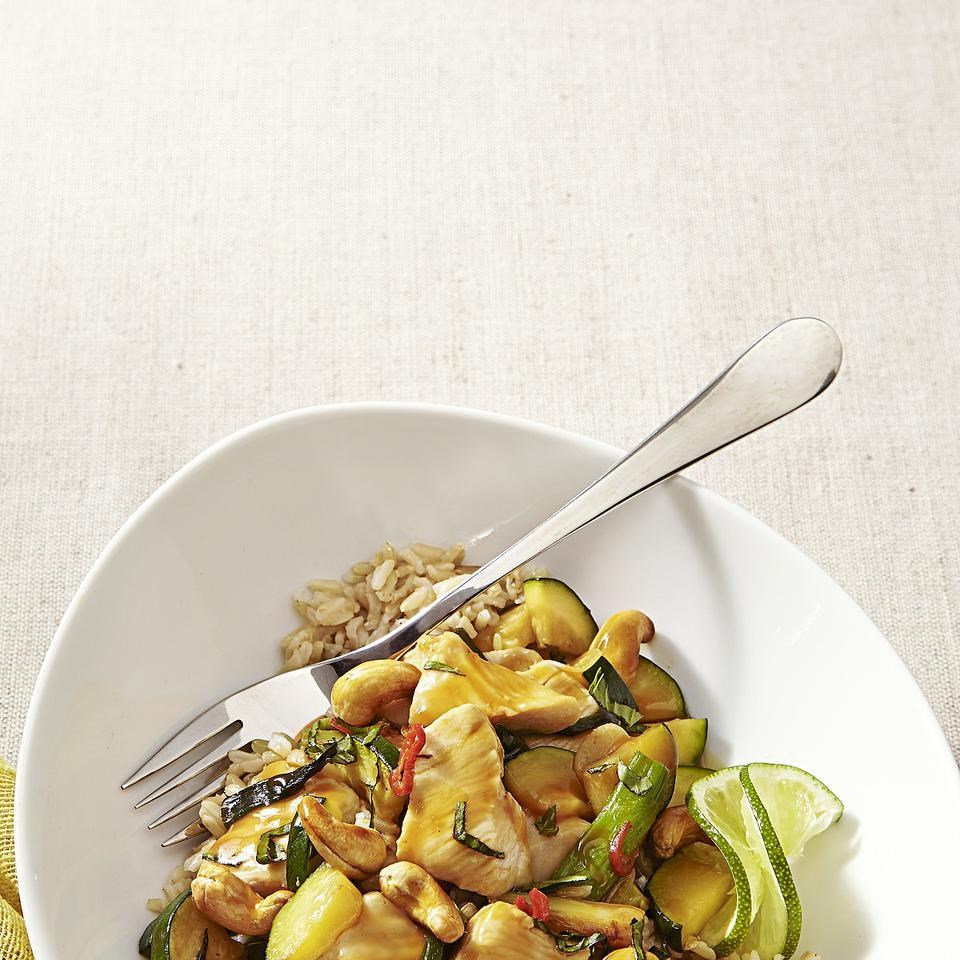 Thai Chicken Stir-Fry with Basil & Cashews Recipe - EatingWell.com