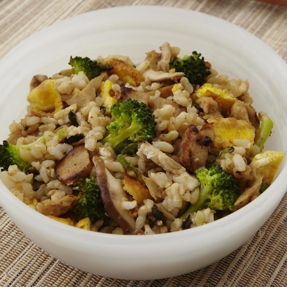 Malaysian Seitan, Broccoli & Mushroom Fried Rice