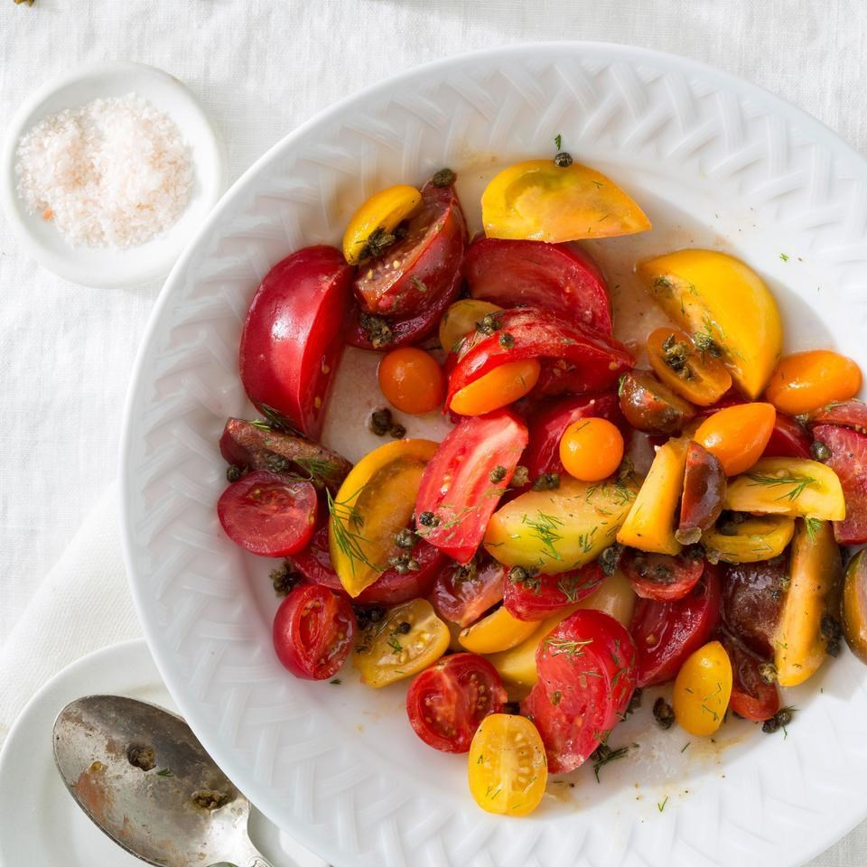 heirloom tomato salad with fried capers - Ina Garten Fennel Salad