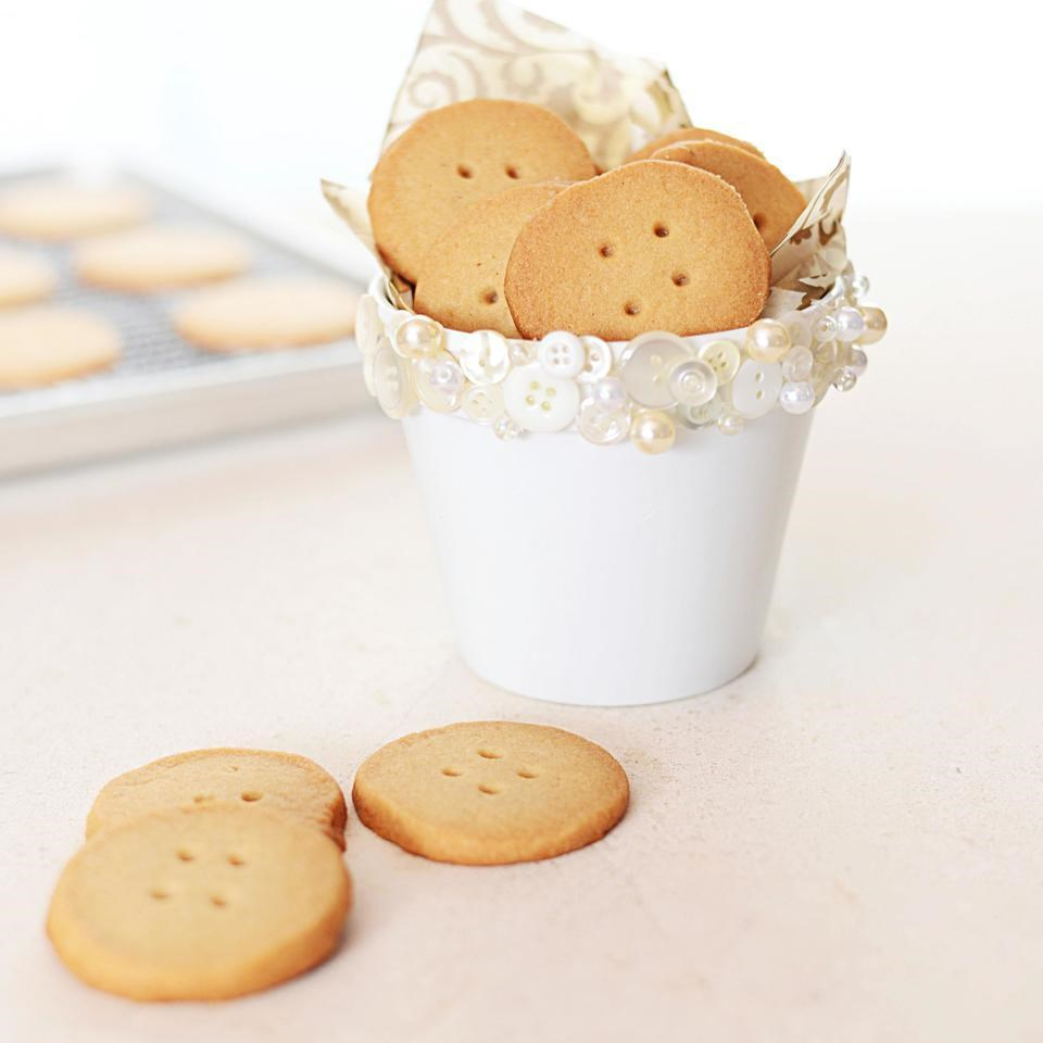 Button Shortbread Cookies