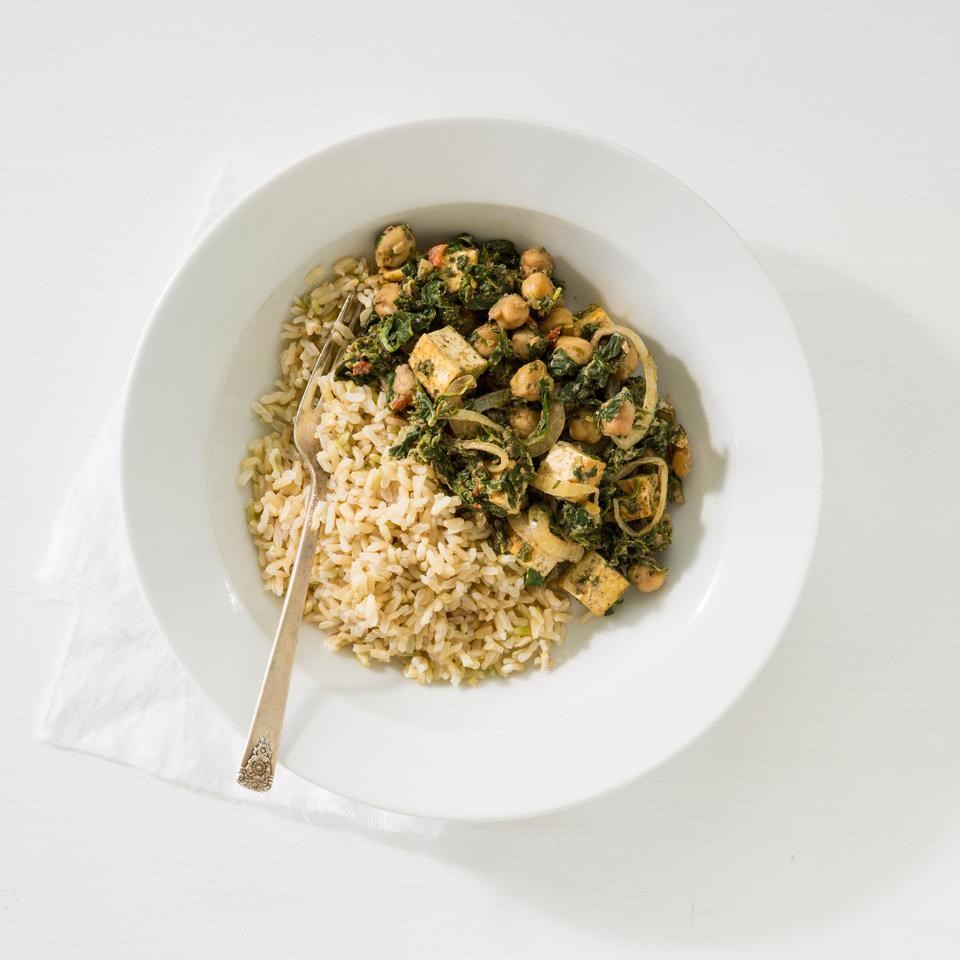 Indian Saag with Chickpeas