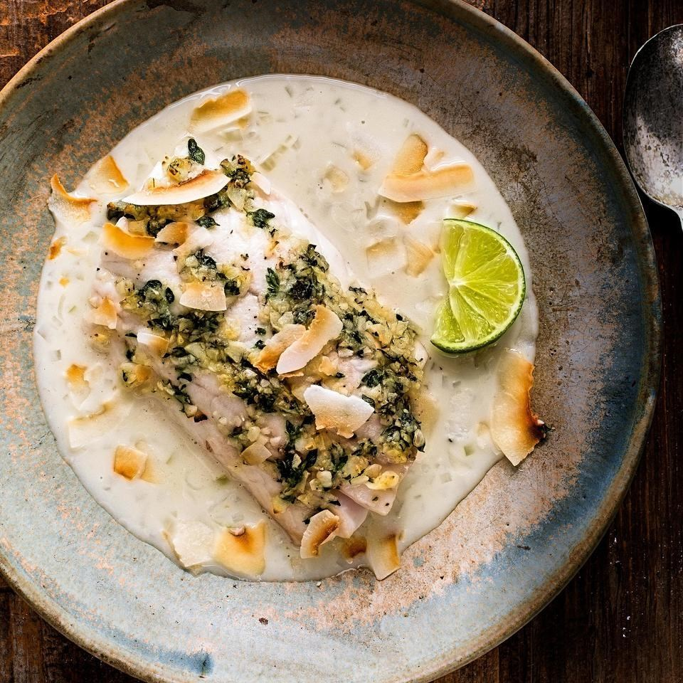 Fish with Coconut-Shallot Sauce