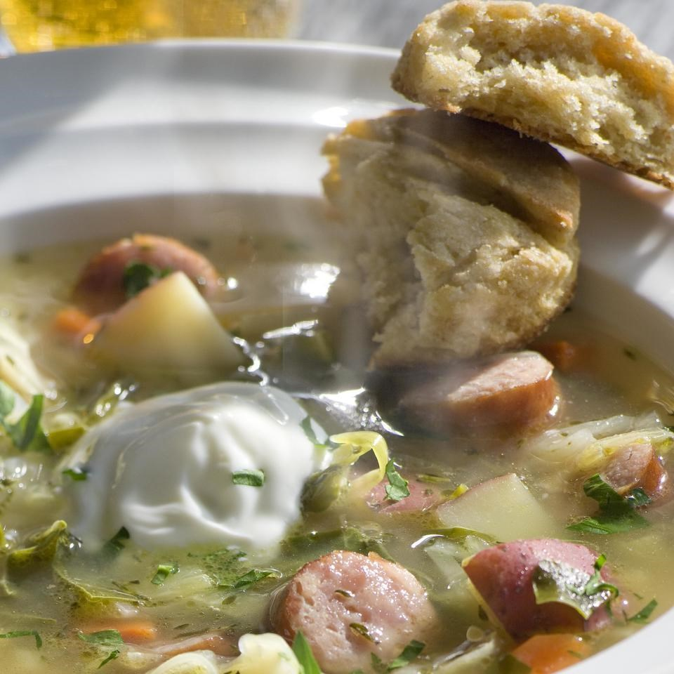 Bavarian Leek & Cabbage Soup