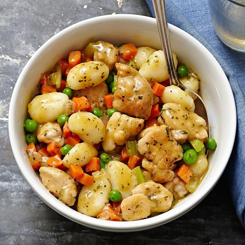 chicken gnocchi dumplings for two recipe eatingwell
