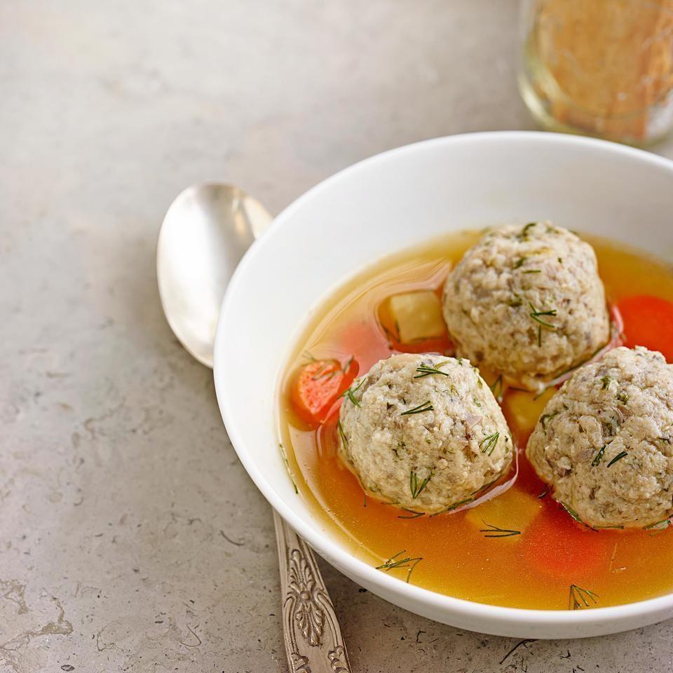 Mushroom & Herb Matzo Ball Soup