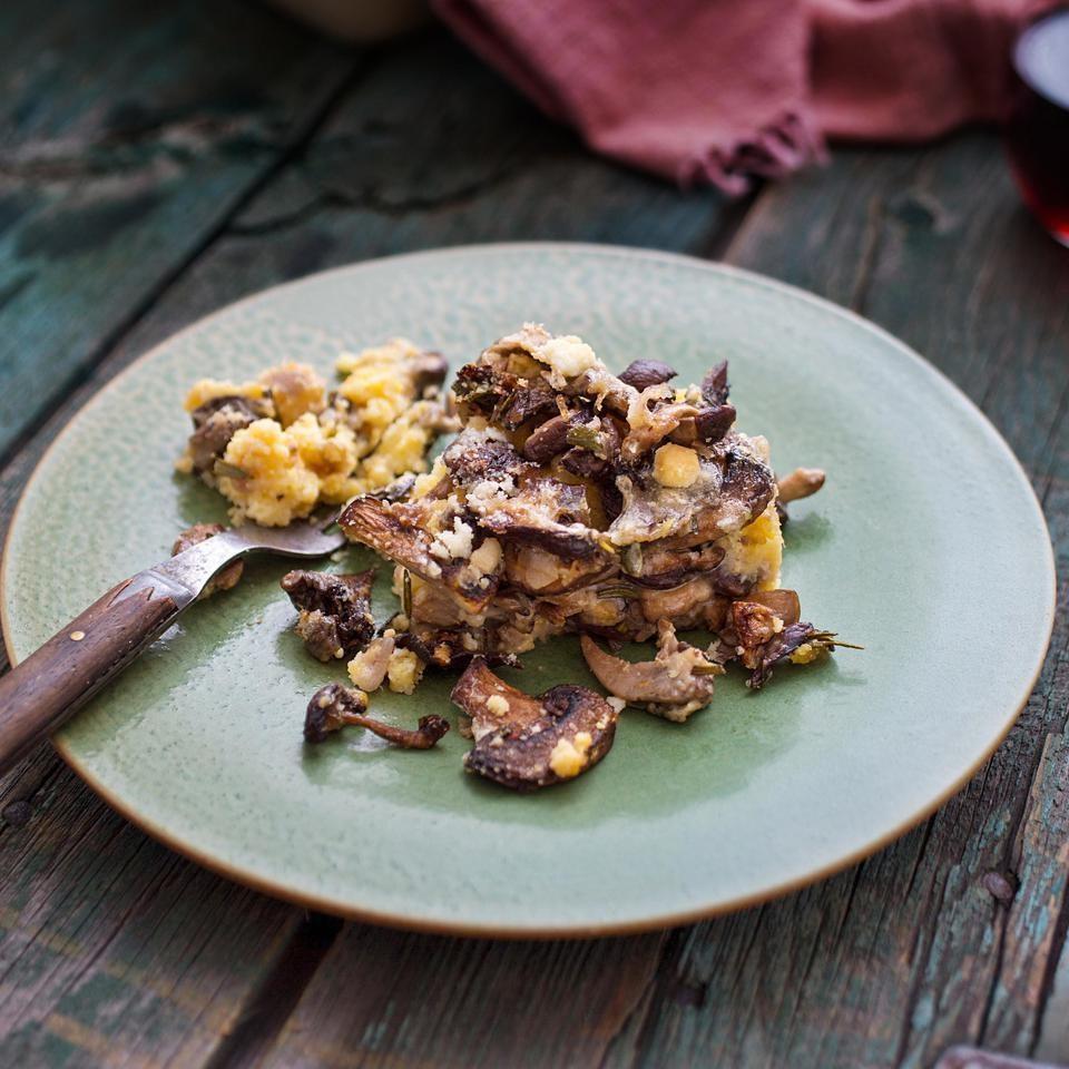 Wild Mushroom & Polenta Casserole
