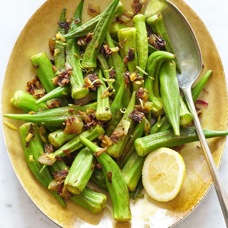 Indian-Style Sauteed Okra Recipe - EatingWell