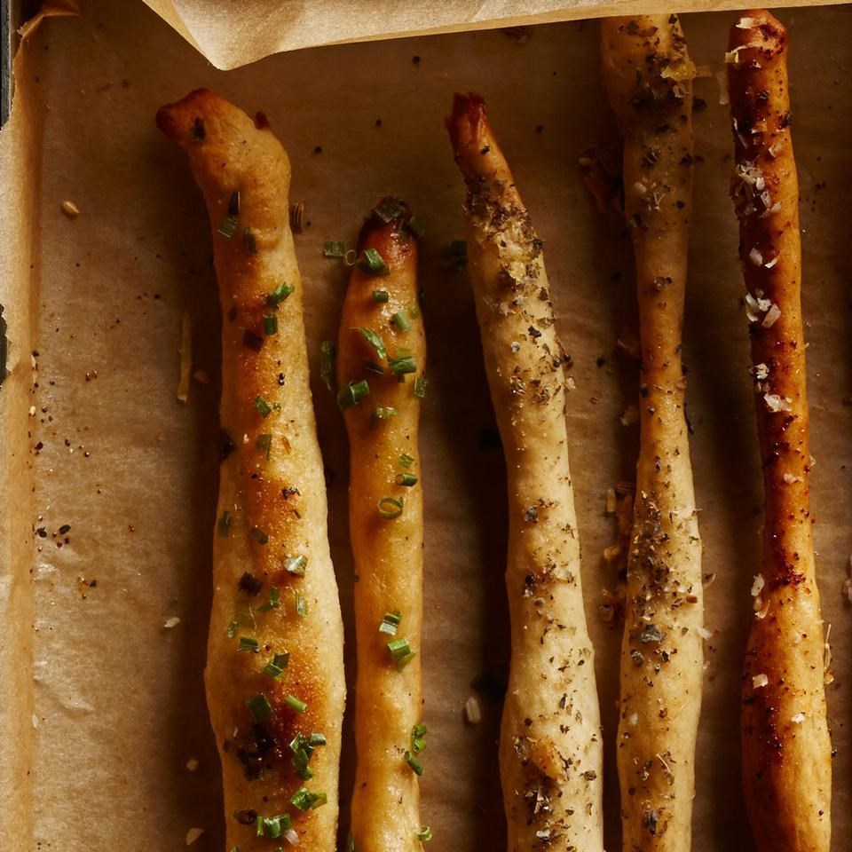 Chive & Garlic Breadsticks