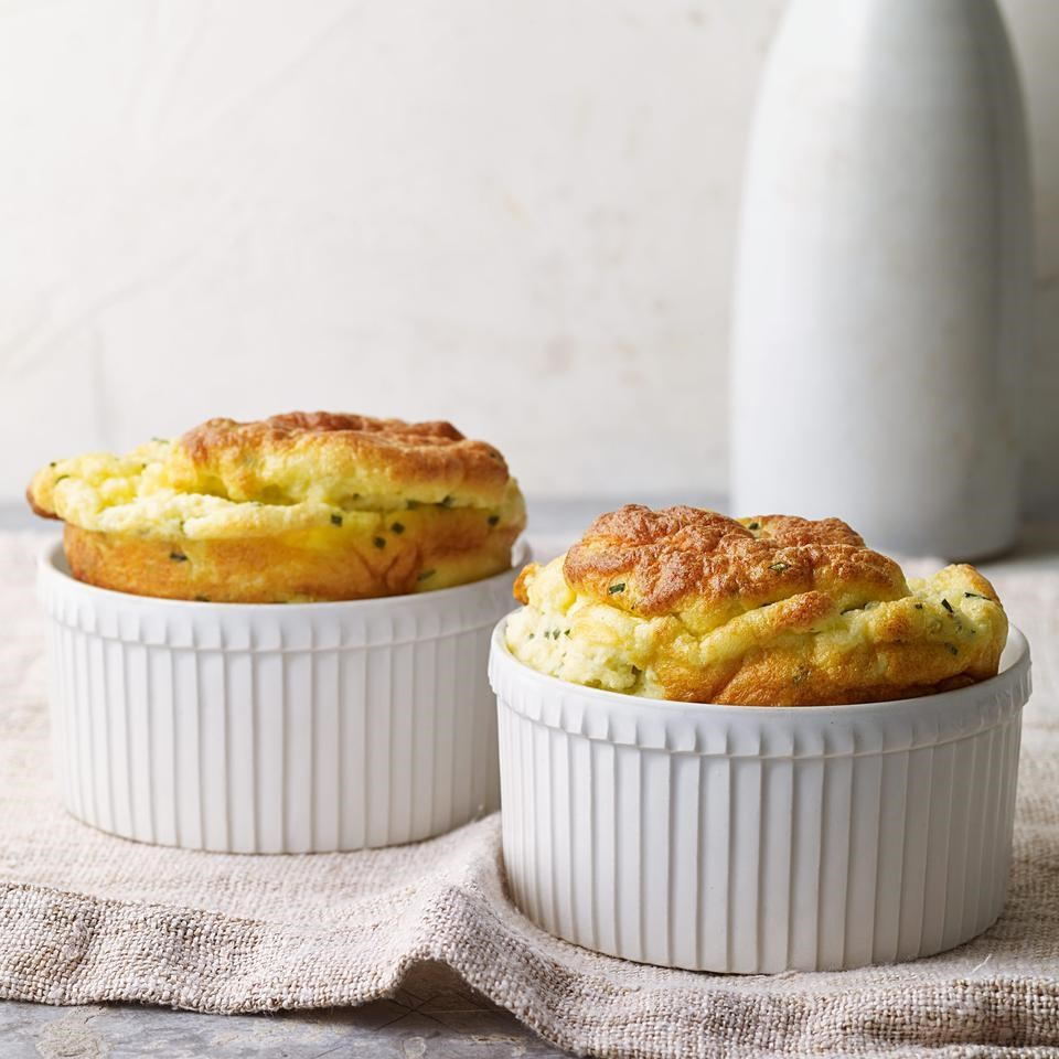Chive & Goat Cheese Souffles