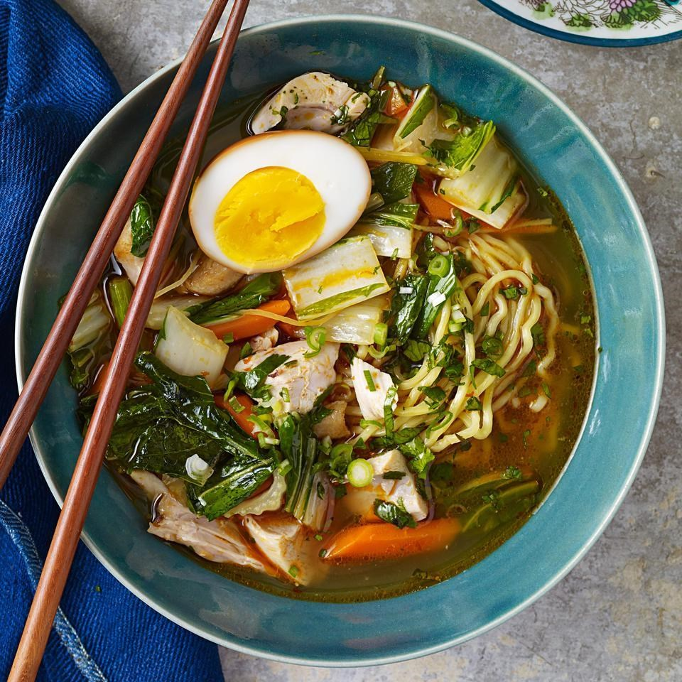 Chicken Ramen with Bok Choy & Soy Eggs