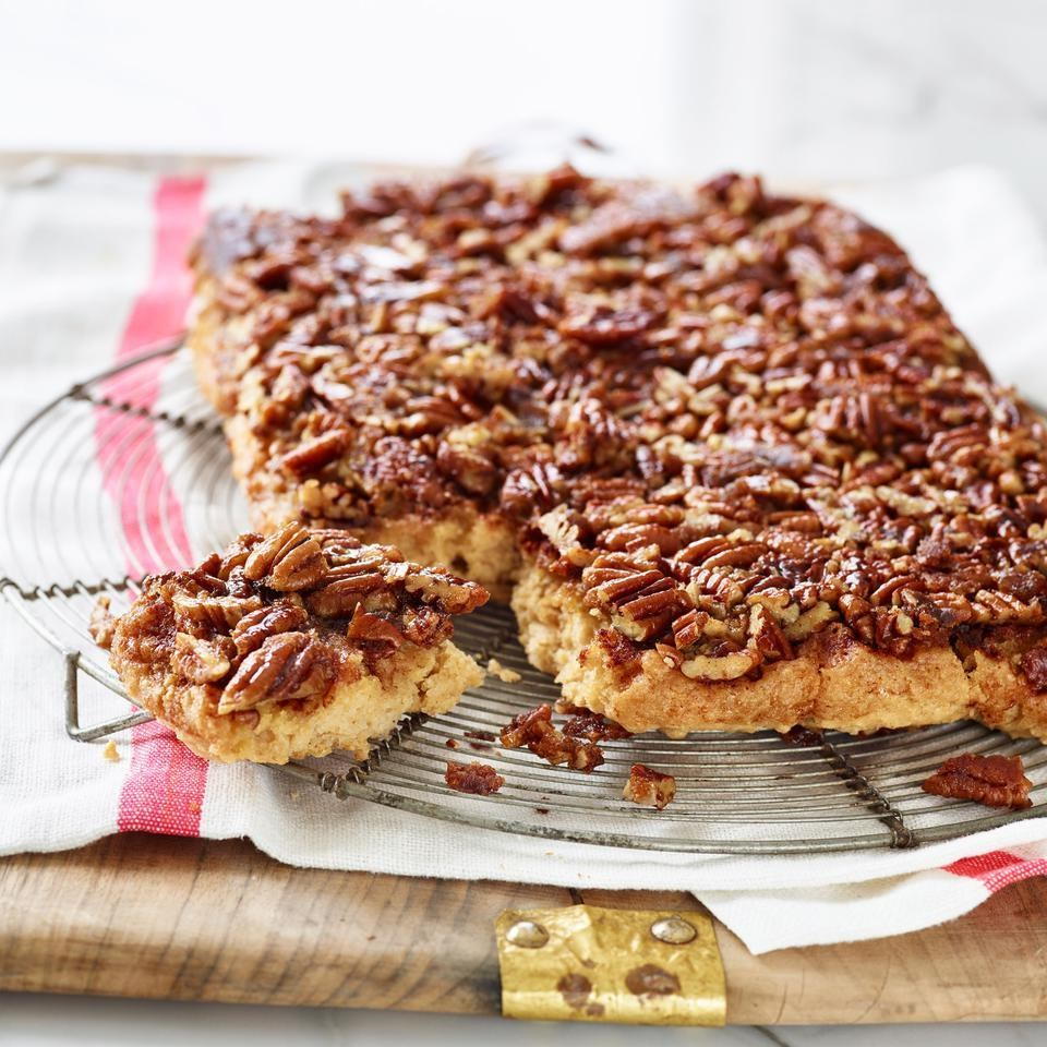 Upside-Down Cinnamon-Pecan Coffee Cake