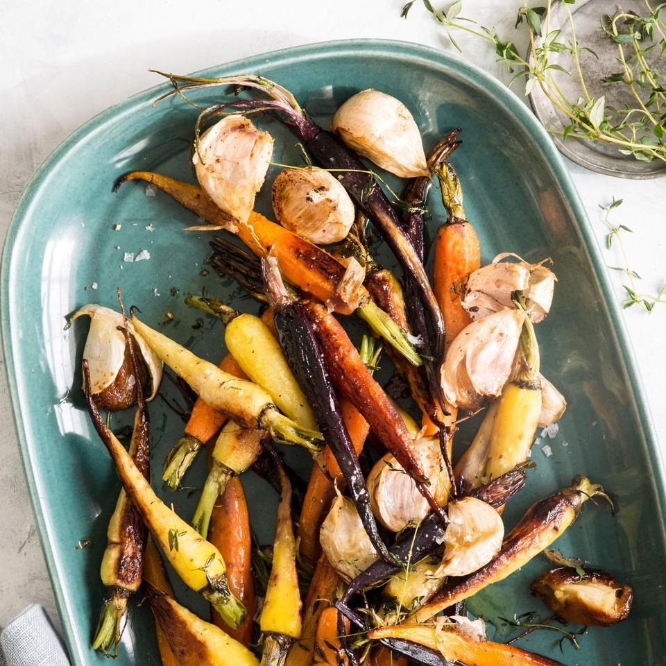 Roasted Carrots with Garlic Confit & Thyme