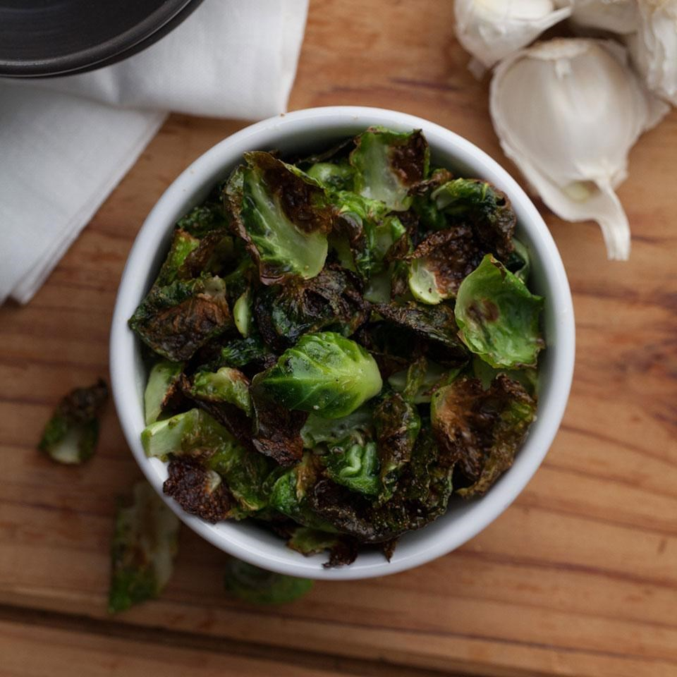 Garlic Brussels Sprout Chips
